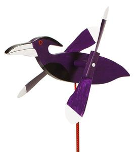 American Made Raven Whirly Bird Wind Spinner