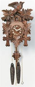 Black Forest Cuckoo Clock - Five Leaves and One Bird