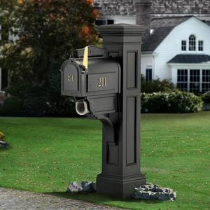 Mayne Liberty Vinyl Mailbox Post - Black