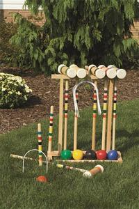 Wooden American Made Croquet Set