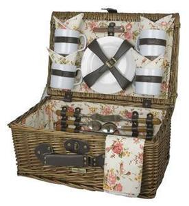 Picnic and Beyond Sunrise Willow Picnic Box For Four