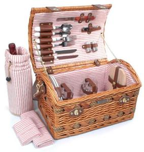 Picnic and Beyond Couture Willow Picnic Box for Two - Light Willow