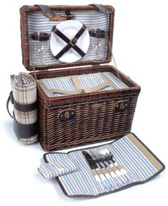 Picnic and Beyond Brio Black Willow Picnic Box for Two - Black Willow