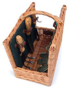 Picnic and Beyond Arbor Willow Garden Basket Deluxe