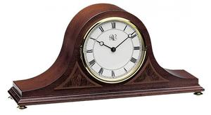Walnut Tambour Mantel Clock