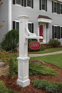 Mayne Woodhaven Hanging Sign Post - White