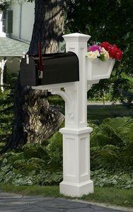 Mayne Westbrook Plus Polyethylene Mailbox Post - White