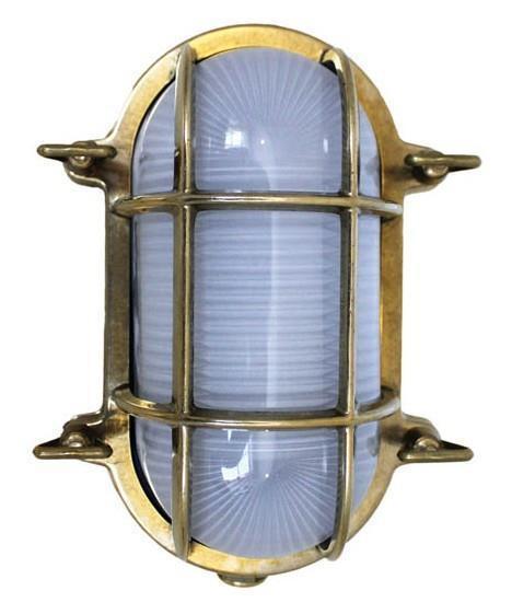 Weems and Plath Oval Brass Bulkhead Light