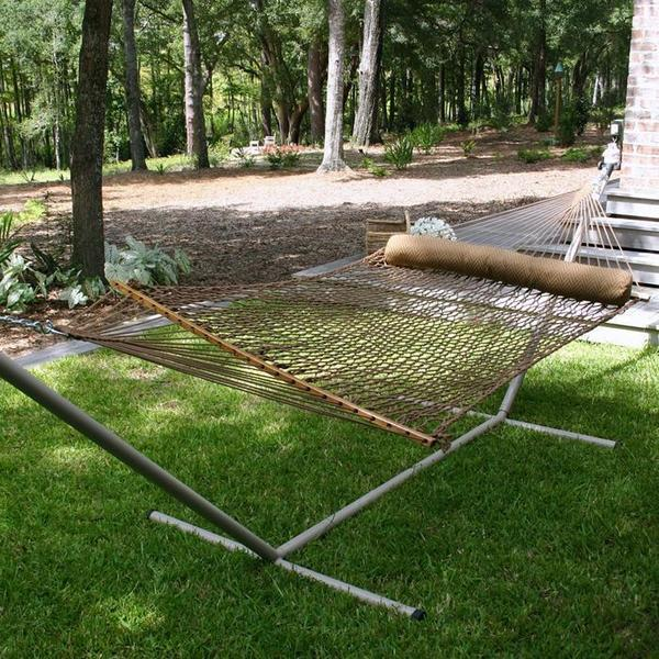 Pawleys Island Large Duracord Rope Hammock - Antique Brown