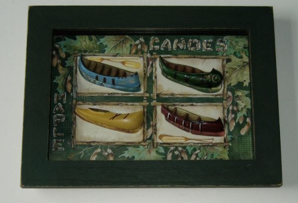 Canoes on Frame Nautical Décor - In Stock and Ready to Ship