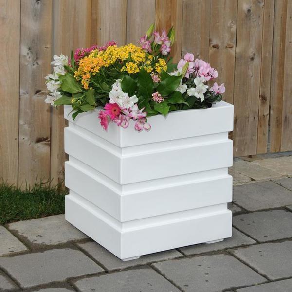 Mayne Freeport Patio Planter - White