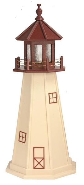 Cape May Wooden Outdoor Lighthouse Replica