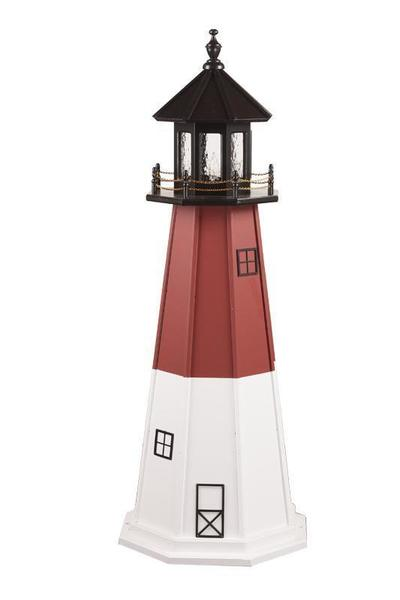 Wood Nautical Vermillion Lighthouse