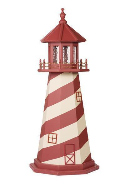 Wood Nautical Lighthouse White Shoal Replica