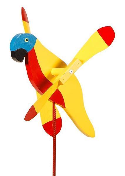 Macaw Bird Wind Wheel Spinner