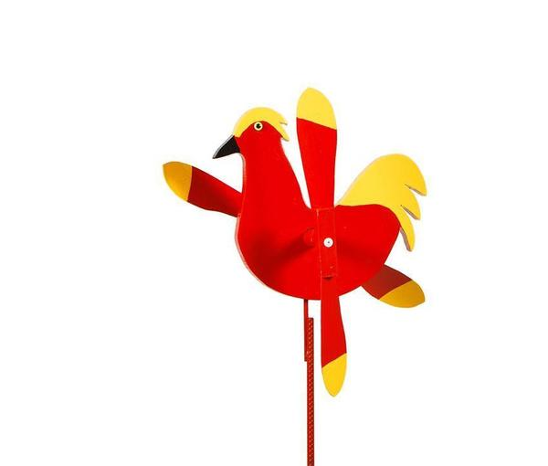 Garden Rooster Whirly Bird Yard Wind Spinner
