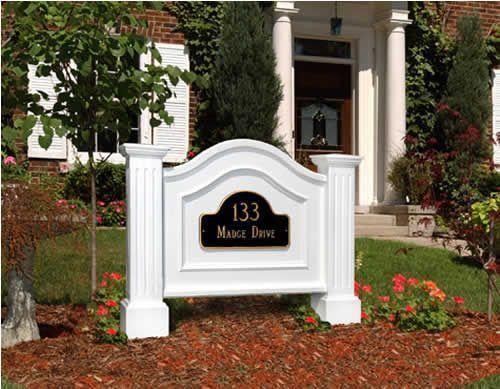 Mayne Nantucket Address Sign - White
