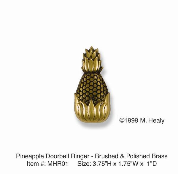 Pineapple Doorbell Ringer - Brass