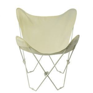 White Frame Butterfly Chair