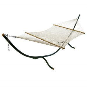 Deluxe Double Woven 15' Cotton Rope Hammock