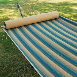 Algoma Quilted Hammock with Bolster Pillow