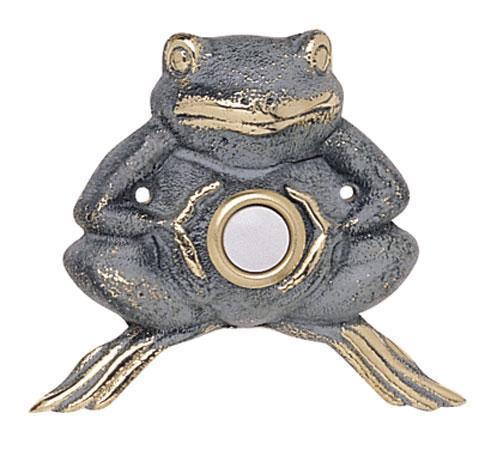 Flora & Fauna Solid Brass Froggie Doorbell