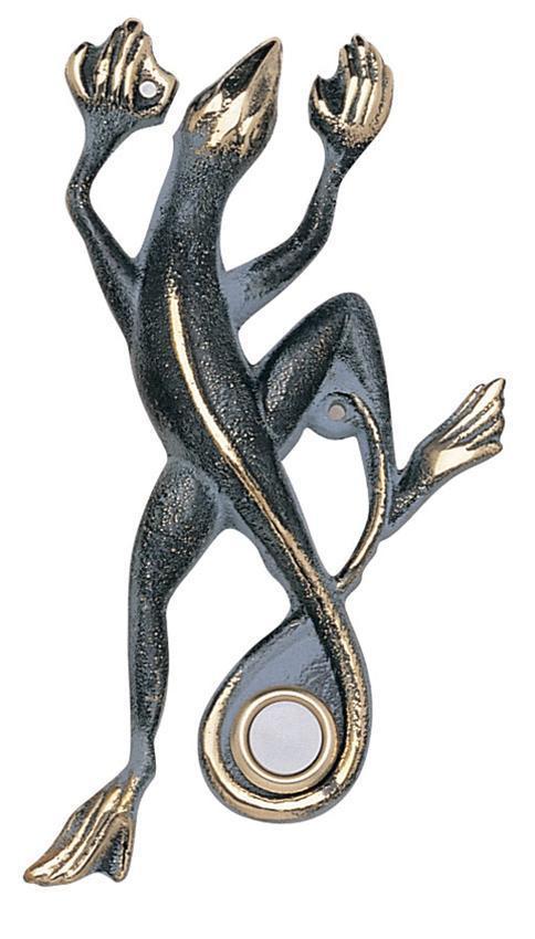 Flora & Fauna Solid Brass Gecko Doorbell