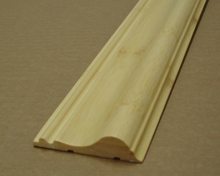 Prefinished Bamboo Chair Rail Molding 6' Length