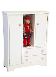 Wooden Deluxe Doll Wardrobe for American Girl Doll