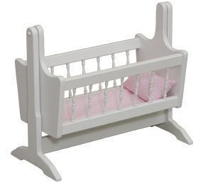 American Made Wooden Swinging Doll Cradle