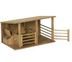 Wooden Toy Horse Stable