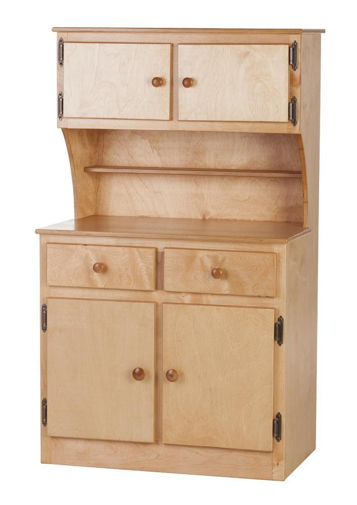 American Made Maple Kids Play Kitchen Cabinet Hutch