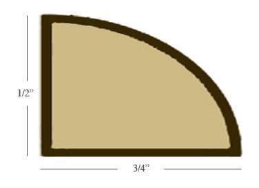 Bamboo Base Shoe Molding 8' Length