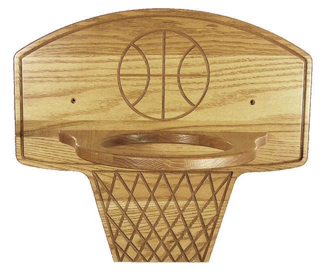 Oak Wood Basketball Holder