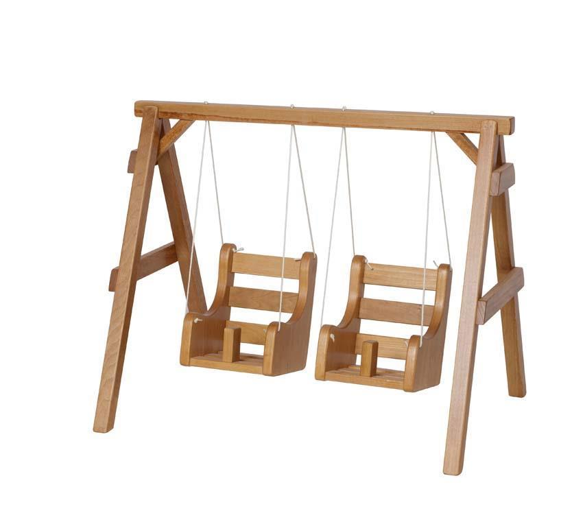 Wooden Doll Playground Swing