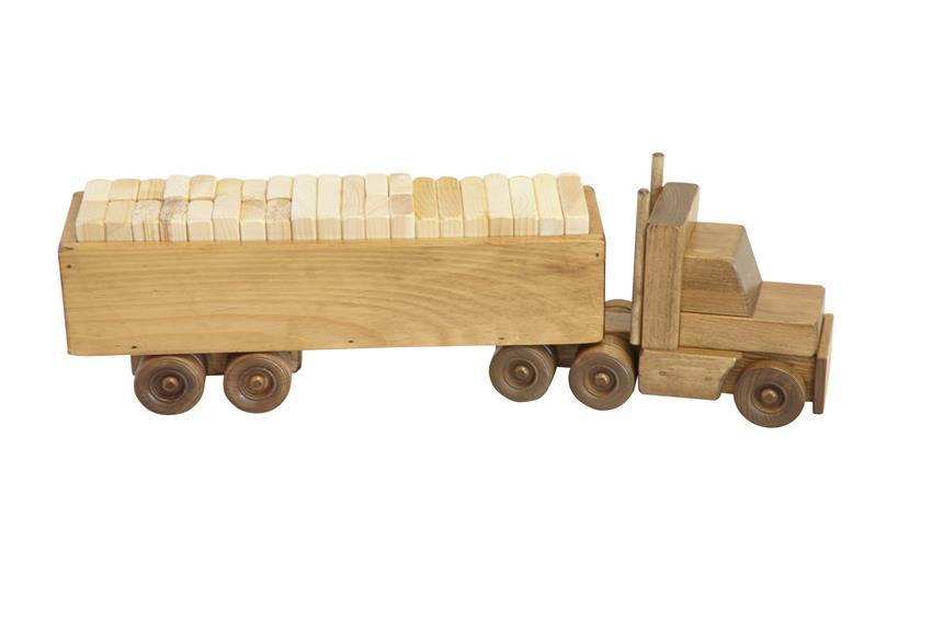 American Made Wooden Toy Block Truck