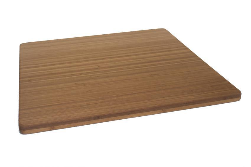 "Bamboo Cutting Board - 24"" x 24"" x 1"" - Carbonized Vertical Grain"