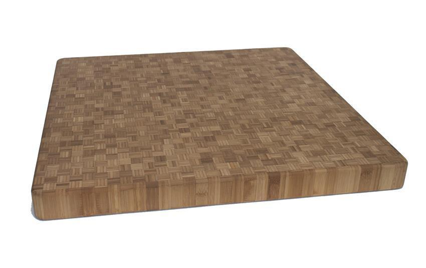 "Carbonized End Grain Bamboo Chopping Board - 24"" x 24"" x 2"""