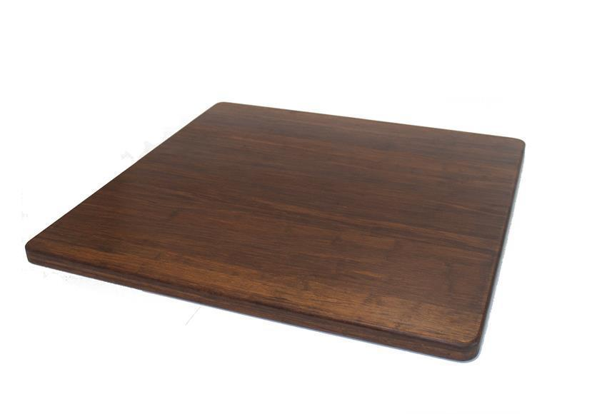 "Strand Woven Bamboo Cutting Board - 24"" x 24"" x 1"" - Carbonized"