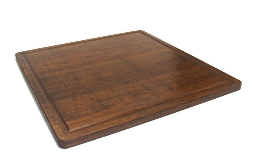 "Strand Woven Bamboo Cutting Board with Juice Groove - 24"" x 24"" x 1"" - Carbonized"