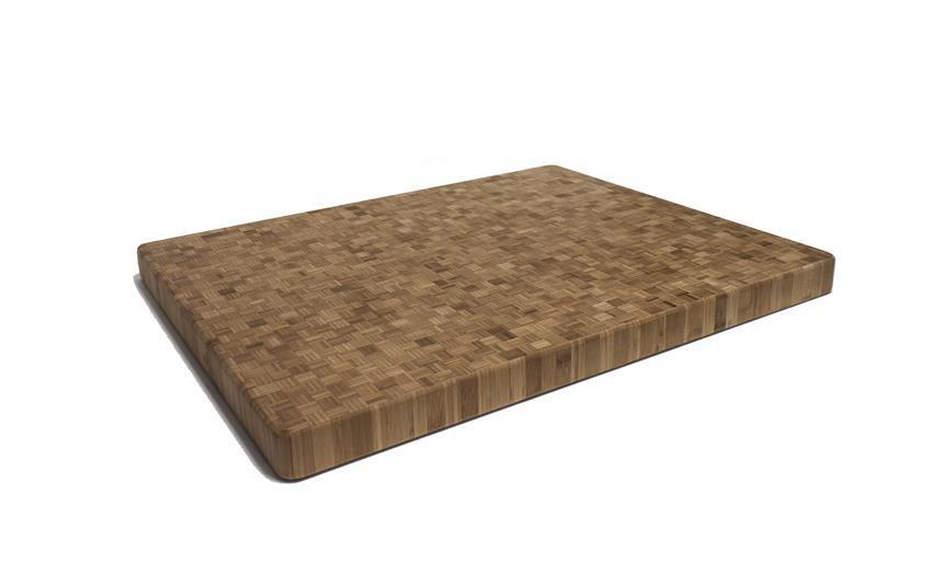 "Carbonized End Grain Bamboo Cutting Board Butcher Block - 30"" x 24"" x 2"" Thick"