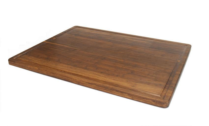 """Strand Woven Bamboo Cutting Board with Juice Groove - 30"""" x 24"""" x 1"""" - Carbonized"""