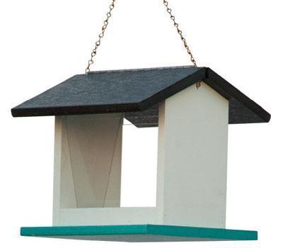 Recycled Plastic Small Rectangle Bird Feeder