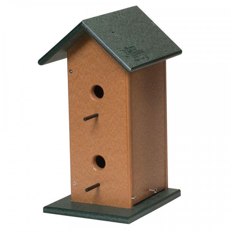 Poly Eco Friendly Double Bird House