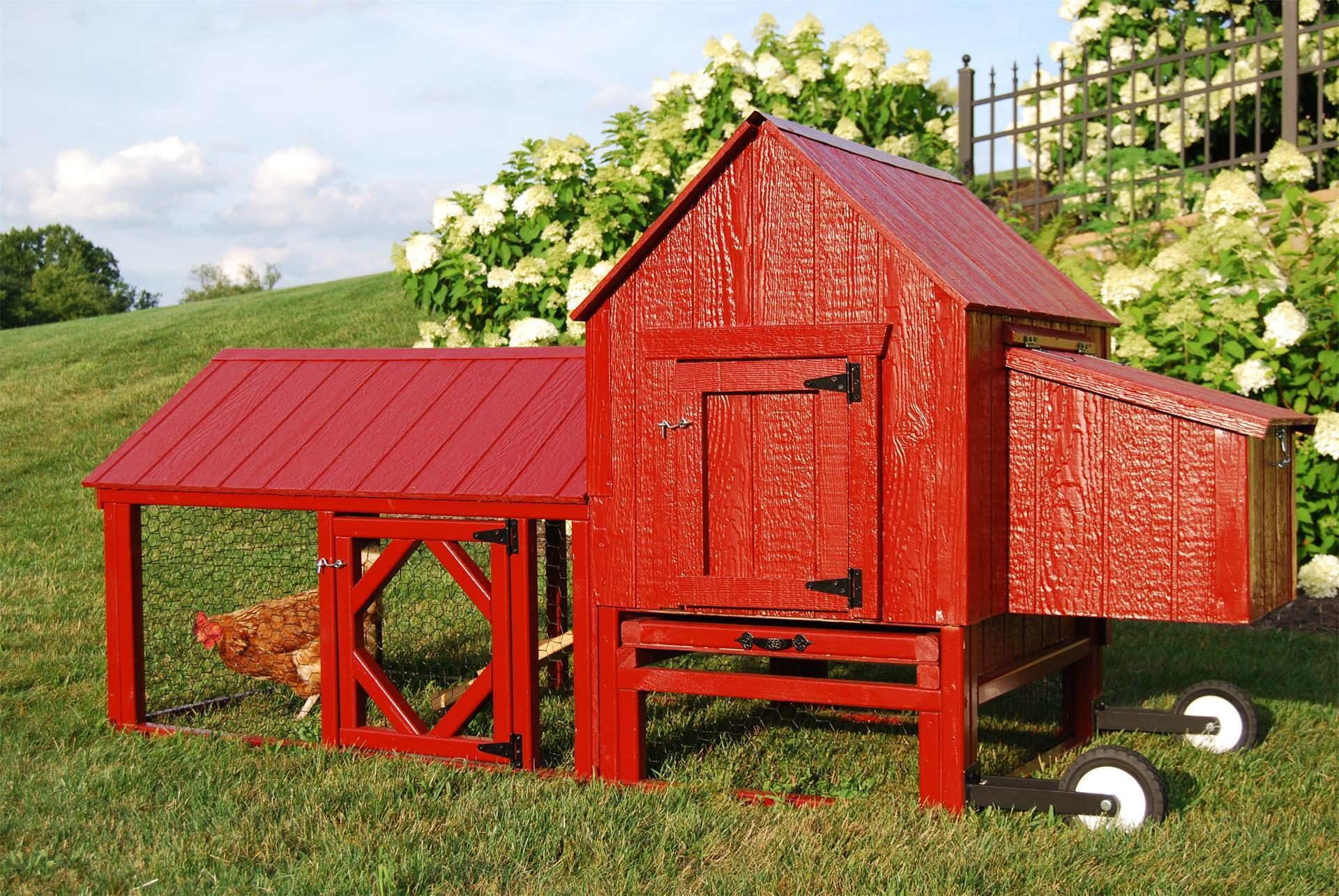 Barn Chicken Coop │backyard Mobile Chicken Coop │ Eco
