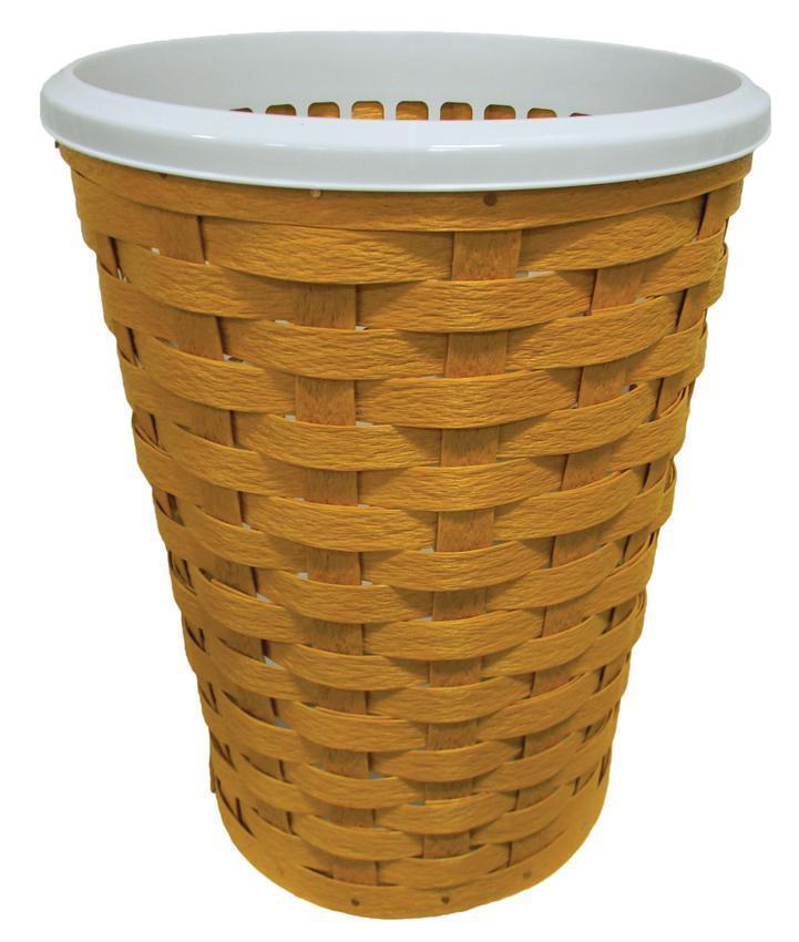 Woven Recycled Plastic Round Laundry Hamper Large Size