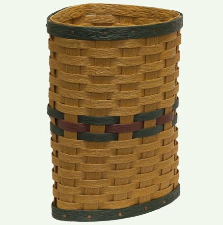 Hand Woven Recycled Plastic Corner Umbrella Basket