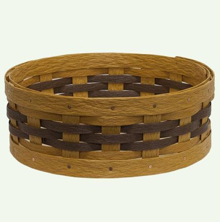 Hand Woven Recycled Plastic Lazy Susan Basket