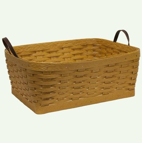 Hand Woven Recycled Plastic Small Clothes Basket