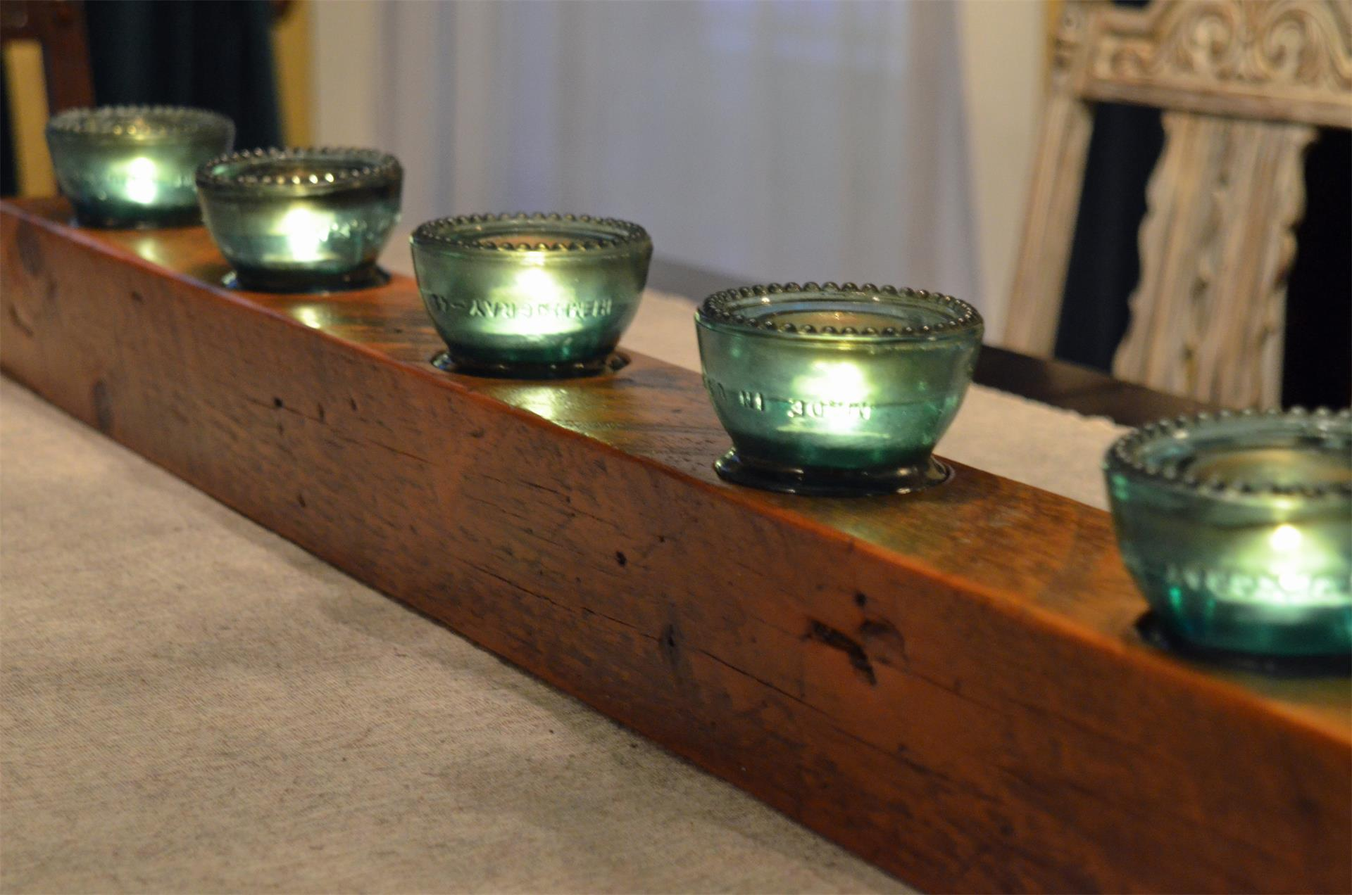 Reclaimed Wood Beam Candle Holder